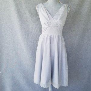 Stop Staring Metallic Silver Dress